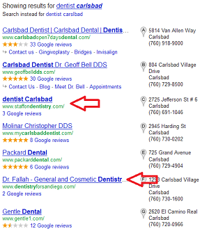 Gold Stars for Good Dentists in Google Places