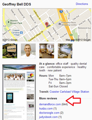 Local Review Sites in Google Places