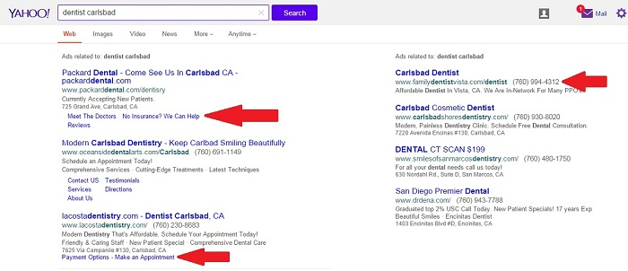 Dentists Can Run Google Ads on Yahoo