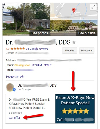 Google My Business Posts for Dentists Knowledge Panel