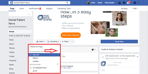 How Dentists on Facebook Get Every Post Seen By Patients on Desktop Step 2