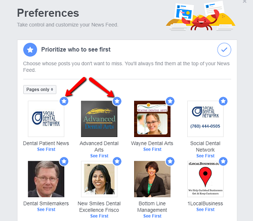 How Dentists on Facebook Get Every Post Seen By Patients on Desktop Step 4